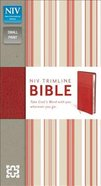 NIV Trimline Bible Cherry Cherry Duo-Tone (Red Letter Edition) Imitation Leather