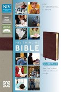 NIV Compact Thinline Bible Burgundy (Red Letter Edition) Bonded Leather