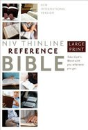 NIV Thinline Reference Large Print Hardcover (Red Letter Edition) Hardback