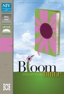 NIV Compact Thinline Bloom Bible Pink/Green Daisy (Red Letter Edition) Premium Imitation Leather