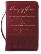Bible Cover Amazing Grace Rich Red Large