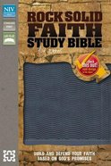 NIV Rock Solid Faith Study Bible For Teens Slate Blue (Black Letter Edition) Premium Imitation Leather