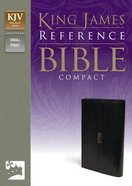 KJV Reference Compact Bible Button Flap Black (Red Letter Edition) Bonded Leather