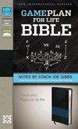 NIV Game Plan For Life Bible Black/Blue (Black Letter Edition)