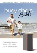 NIV Busy Dad's Bible Gray Charcoal Duo-Tone (Red Letter Edition) Imitation Leather