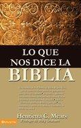 Lo Que Nos Dice La Biblia Paperback