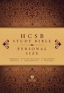 HCSB Study Bible Personal Size Indexed Hardback