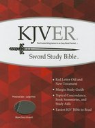 Kjver Sword Study Personal Size Large Print Black/Grey Imitation Leather