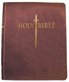 Kjver Thinline Large Print Bible Genuine Burgundy Leather