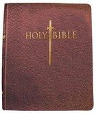 KJV Sword Study Personal Size Giant Print Bible Genuine Burgundy Leather