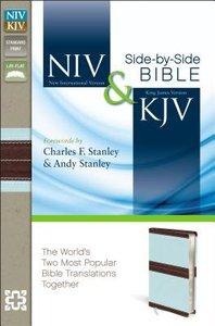 NIV & KJV Side-By-Side Bible Chocolate/Turquoise