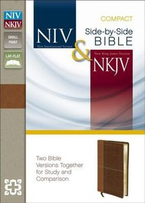 NIV NKJV Side-By-Side Bible Compact Caramel/Dark Caramel