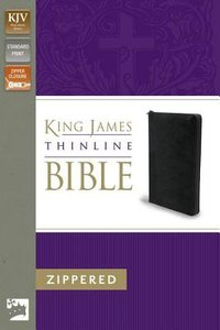 KJV Thinline Zippered Bible Black (Red Letter Edition)