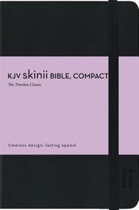 KJV Compact Skinii Black Elastic Closure Bible (Red Letter Edition)