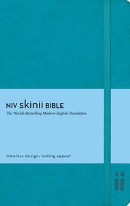 NIV Skinii Bible Italian Duo-Tone Turquoise (Red Letter Edition)