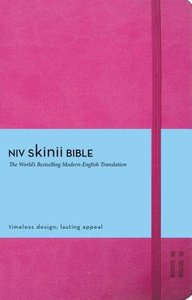 NIV Skinii Bible Italian Duo-Tone Pink (Red Letter Edition)
