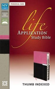 NIV Life Application Study Bible Personal Size Indexed Italian Duo-Tone Orchid/Chocolate (Red Letter Edition)