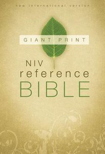 NIV Giant Print Reference Bible (Red Letter Edition)