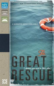 NIV the Great Rescue Deep Sea Tan