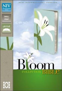 NIV Compact Thinline Bloom Collection White Lily (Red Letter Edition)