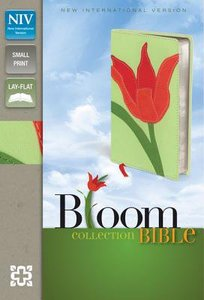 NIV Compact Thinline Bloom Bible Red Tulip Duo-Tone (Red Letter Edition)