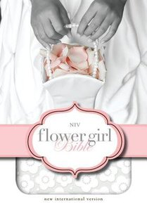 NIV Flower Girl Bible White Duo-Tone (Red Letter Edition)