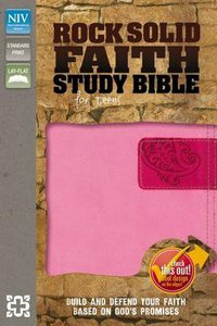 NIV Rock Solid Faith Study Bible For Teens Pink/Hot Pink (Black Letter Edition)