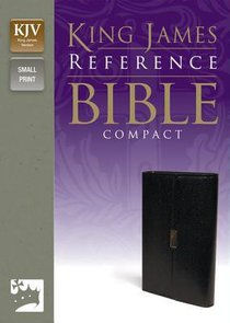 KJV Reference Compact Bible Button Flap Black (Red Letter Edition)