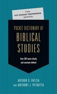 Pocket Dictionary of Biblical Studies (Ivp Pocket Reference Series)