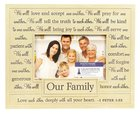 Photo Frame: Our Family/One Another (22cm X 18cm) Homeware