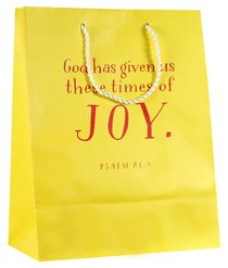 Value Gift Bag Large: Yellow (Psalm 81:4)