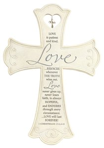 Wall Cross: Love is Large (36cm X 26xm)
