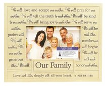 Photo Frame: Our Family/One Another (22cm X 18cm)