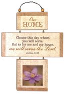 Cross Shaped Three Piece Mdf Wall Plaque: Our Home, Joshua 24:15 (Crosswords) Plaque