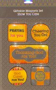 Magnetic Set of 5 Magnets: God Cares For You