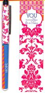 Pen & Bookmark Gift Set: You Have a Hope and a Future, Pink/White