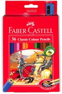Faber-Castell Classic Colour Pencils Set of 36 + Bonus Sharpener Stationery