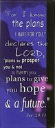 Magnetic Bookmark: For I Know the Plans I Have For You, Purple