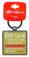 Metal Keyring: Keep Calm, Lime Green Jewellery