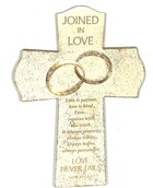 Cross Cast Stone: Joined in Love, 1 Cor 13:4, 6:7
