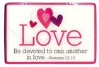 Magnet: Love, Hearts, Pink, Romans 12:10 Novelty