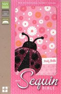 NIRV Sequin Bible Pink Lady Beetle (Black Letter Edition)