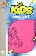 KJV Kids' Study Bible Fuchsia Butterfly (Black Letter Edition)