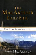 NKJV Macarthur Daily Bible (Black Letter Edition)