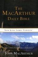 NKJV Macarthur Daily Bible (Black Letter Edition) Paperback
