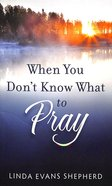When You Don't Know What to Pray Paperback