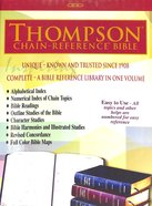 NIV Thompson Chain Reference Bible Black Indexed Bonded Leather