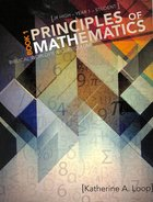Principles of Mathematics (Student) (Book1) Paperback