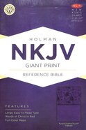 NKJV Giant Print Reference Indexed Bible Purple Premium Imitation Leather