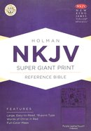 NKJV Super Giant Print Reference Indexed Bible Purple Premium Imitation Leather